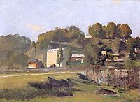 The mill of Sous Terre in Geneva, 1878, hodler