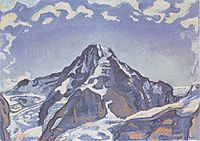 The Monk with clouds, 1911, hodler