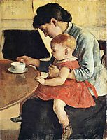 Mother and Child, hodler