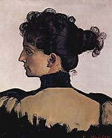 Portrait of Berthe Jacques, wife of the artist, 1894, hodler