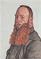 Portrait of James Vibert, 1915, hodler