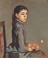 Portrait of Louise Delphine Duchosal, 1885, hodler
