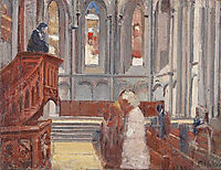 Prayer in the Cathedral of St. Pierre, Geneva, 1882, hodler