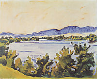 The river Aare in Solothurn, 1915, hodler