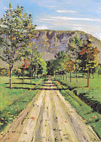 The road to a particular interest, 1890, hodler