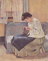 Seamstress, 1885, hodler