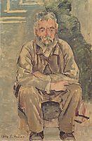 Seated bearded man, 1884, hodler