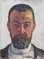 Self portrait, 1912, hodler