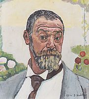 Self-portrait with roses, 1914, hodler