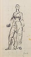Standing draped figure, c.1913, hodler