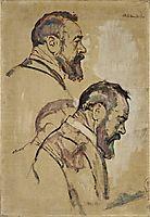 Studies of self-portrait, 1911, hodler