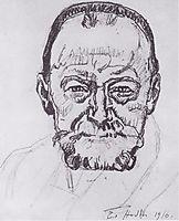 Study of self-portrait, 1916, hodler