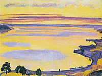 Sunset on Lake Geneva from the Caux, 1917, hodler