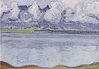 Thun, Stockhornkette, in clouds, c.1912, hodler