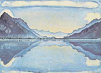 Thun with symmetric mirroring, 1909, hodler