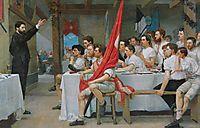 The Turner Banquet, 1878, hodler