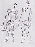 Two swearing, c.1912, hodler