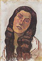 Valentine Gode Darel, with disheveled hair, 1913, hodler