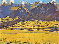 View of the Horn of Fromberg from Reichenbach, 1903, hodler