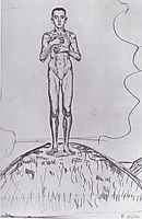 Young Man standing on a hill, c.1901, hodler