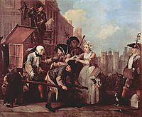 The arrest for theft, 1735, hogarth