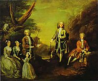 The Ashley and Popple Family , 1730, hogarth