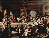 The Banquet, 1755, hogarth