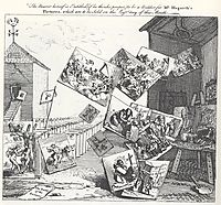 The Battle of the Pictures, 1743, hogarth