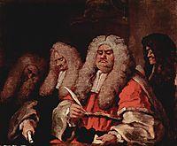The Bench, c.1758, hogarth