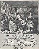 Benefit ticket (Mr  Milward)- A Bold Stroke for a Wife, hogarth