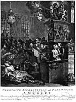 Credulity, Superstition, and Fanaticism , hogarth