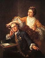 David Garrick and his Wife, 1757, hogarth
