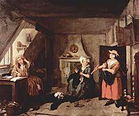 The Distrest Poet, 1736, hogarth