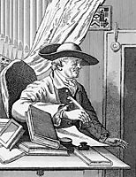 English librettist Thomas Morell, hogarth