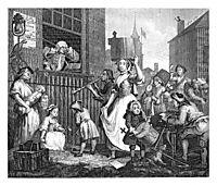 The Enraged Musician, 1741, hogarth