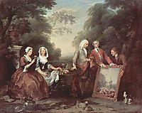 The Fountaine Family, c.1730, hogarth