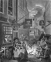 The Four Times of Day: Night, 1736, hogarth