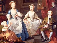 The Graham Children, 1742, hogarth