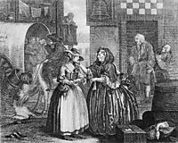 A Harlot-s Progress, plate 1, hogarth