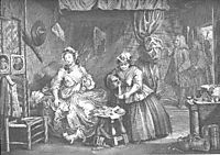 A Harlot-s Progress, plate 3, hogarth