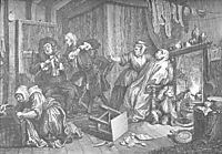 A Harlot-s Progress, plate 5, hogarth