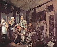 The heir, 1735, hogarth