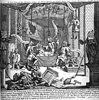 A Just View of the English Stage, 1724, hogarth