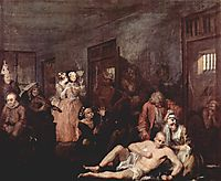 The Madhouse, 1735, hogarth
