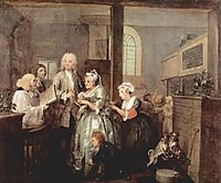 Marriage, 1735, hogarth