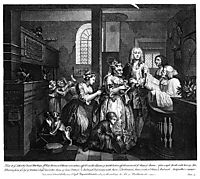 Married to an Old Maid, hogarth