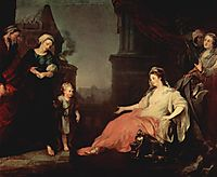 Moses Brought Before Pharaoh-s Daughter, 1746, hogarth