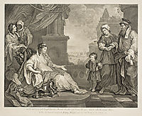 Moses Brought to the Pharaoh-s Daughter, hogarth