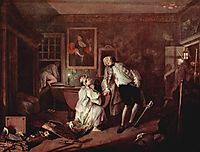 The murder of the count, c.1745, hogarth