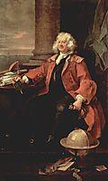 Portrait of Captain Coram, 1740, hogarth